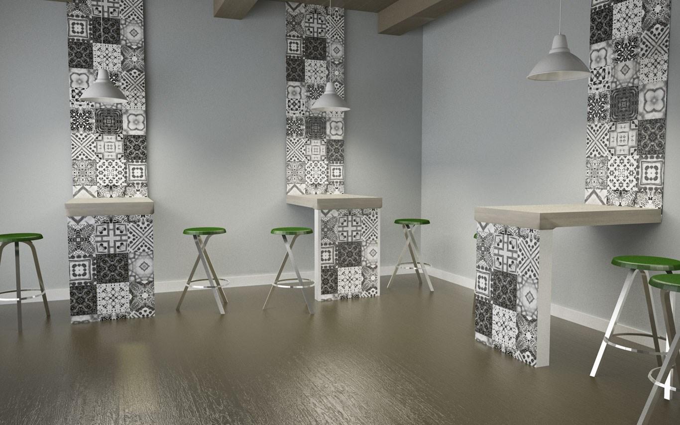 Stampa di piastrelle con grafica personalizzata a lecco